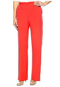 Alfred Dunner Monaco Proportioned Pull On Pant Average Length
