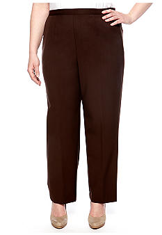 Alfred Dunner Plus Size Monaco Proportioned Pull On Pant Short Length