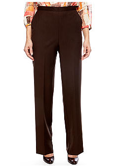 Alfred Dunner Petite Monaco Proportioned Pull On Pant Average Length
