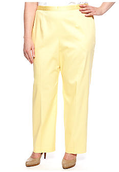 Alfred Dunner Plus Size City of Lights Proportioned Pull On Pant Short Length