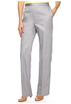 Alfred Dunner Petite City Of Lights Proportioned Pull On Pant Average Length