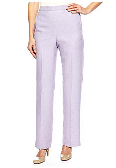 Alfred Dunner Notting Hill Proportioned Pull On Pant Short Inseam