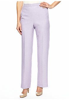 Alfred Dunner Notting Hill Proportioned Pull On Pant Average Inseam