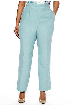 Alfred Dunner Plus Size Notting Hill Proportioned Pull On Pant Short Inseam