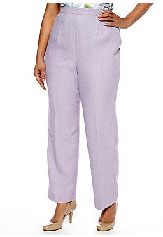 Alfred Dunner Plus Size Notting Hill Proportioned Pull On Pant Average Inseam