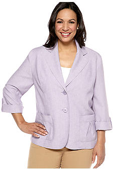 Alfred Dunner Plus Size Notting Hill Three Button Jacket