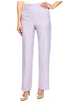 Alfred Dunner Petite Notting Hill Proportioned Pull On Pant Short Inseam