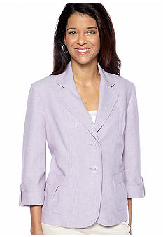 Alfred Dunner Petite Notting Hill Three Button Jacket