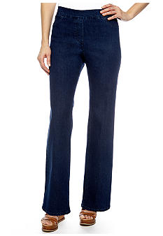 Alfred Dunner Petite Santorini Pull On Slim Fit Denim Pant Average Inseam