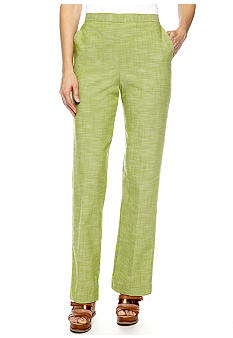 Alfred Dunner Al Fresco Proportioned Pull On Pant Average Inseam