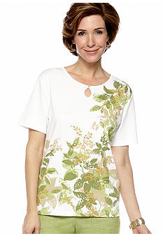 Alfred Dunner Al Fresco Leaves Tee