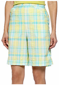 Alfred Dunner Walking On Sunshine Plaid Short