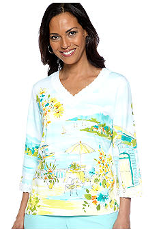 Alfred Dunner Walking On Sunshine Scenic Tee