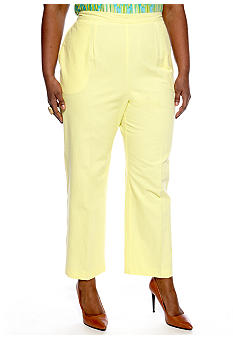 Alfred Dunner Plus Size Walking On Sunshine Pull On Pant Short Inseam