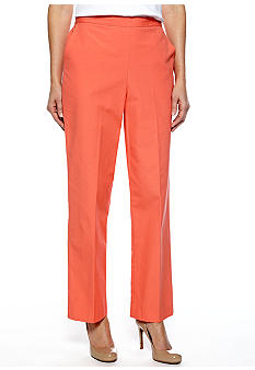 Alfred Dunner Laguna Beach Pull On Pant Short Inseam
