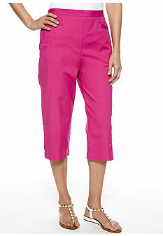Alfred Dunner Laguna Beach Embroidered Capri