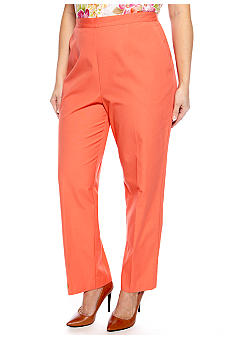 Alfred Dunner Plus Size Laguna Beach Pull On Pant Short Inseam