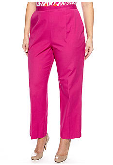 Alfred Dunner Plus Size Laguna Beach Pull On Pant Average Inseam