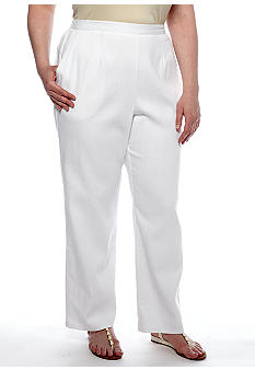 Alfred Dunner Plus Size Sahara Desert Pull On Pant Average Inseam