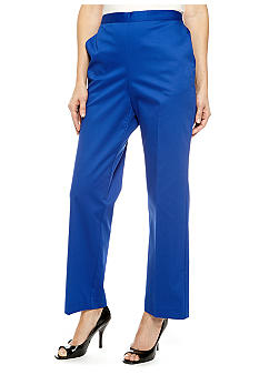 Alfred Dunner French Riviera Pull On Pant Short Inseam