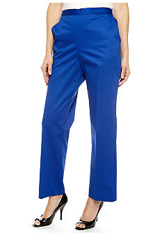 Alfred Dunner French Riviera Pull On Pant Average Inseam