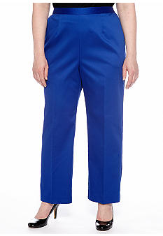 Alfred Dunner Plus Size French Riviera Pull On Pant Short Inseam