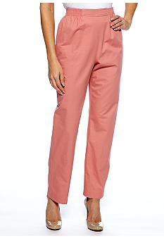 Alfred Dunner Petite Summer Haze Pull On Pant Average Inseam