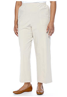Alfred Dunner Plus Size Color Splash Classic Cotton Pull On Pant Average Inseam
