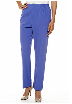 Alfred Dunner Petite Color Splash Pull on Pants Short Inseam