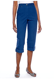 Alfred Dunner Cool Breeze Denim Twill Capri