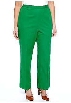 Alfred Dunner Plus Size Cool Breeze Pull On Pant Average Inseam