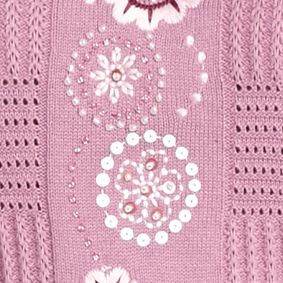 Alfred Dunner Women Sale: Pink Alfred Dunner Embroidery Sweater