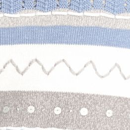 Alfred Dunner Women Sale: Perwinkle Blue Alfred Dunner Vienne Striped Sweater