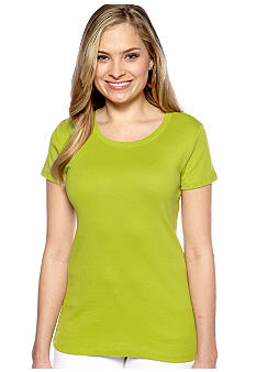 New Directions Weekend U-Neck Short Sleeve Core Tee