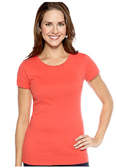 New Directions® Weekend U-Neck Short Sleeve Core Tee
