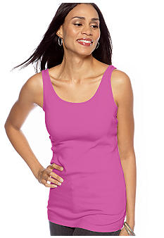 New Directions Rib Scoop Neck Tank