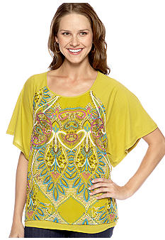 New Directions® Weekend Angel Sleeve Circle Top