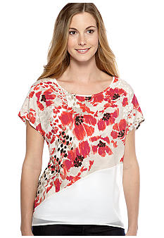 New Directions Weekend Assymetrical Hem Top
