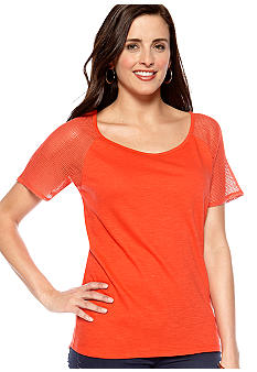 New Directions Weekend Crochet Sleeve Tee