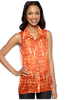 New Directions Weekend Sleeveless High Low Tank