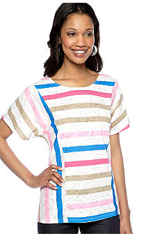 New Directions Weekend Stripe Dolman Tee