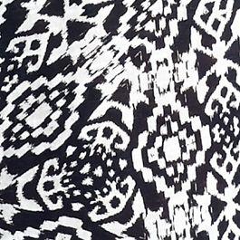 Women's T-shirts: White New Directions Weekend Aztec Printed Slub Tee