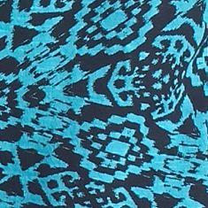 Women's T-shirts: Turquoise New Directions Weekend Aztec Printed Slub Tee