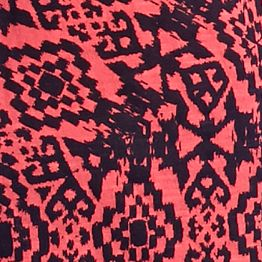 Women's T-shirts: Coral New Directions Weekend Aztec Printed Slub Tee