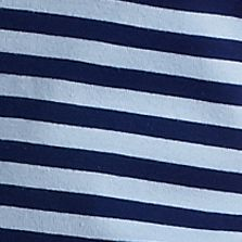 Women's T-shirts: Navy / Blue New Directions Weekend Stripe Scoop Neck Tee