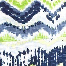Women's T-shirts: Blue Chevron New Directions Weekend Short Sleeve Tribal Print Tee