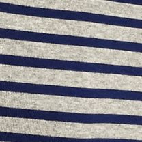 Layering Tees for Women: Heather Gray / Nitecap New Directions Weekend Stripe Ribbed Tee
