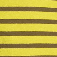 Women's T-shirts: Chartreuse / Mural Olive New Directions Weekend Stripe Ribbed Tee