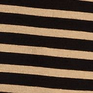 Women's T-shirts: Black / Tan New Directions Weekend Stripe Ribbed Tee