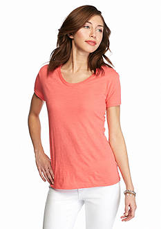 New Directions Weekend Slub V-Neckline Tee